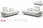 Vig Vgkk1372 Contemporary White Leather Sofa And Love Seat