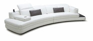 VIG Furniture VGKK1699 Magnolia - White Full Leather Sofa with iPhone Dock & Speakers