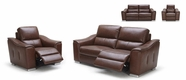 VIG Furniture VGKK1710-ESP 1710 - Modern Espresso Leather Love Set and Chair Sofa Set