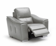 VIG Furniture VGKK1710-GRYCH 1710 - Grey Reclining Leather Lounge Chair