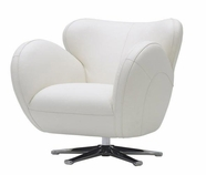 VIG Furniture VGKK569-BL 569 - Modern Bonded Leather Swivel Lounge Chair