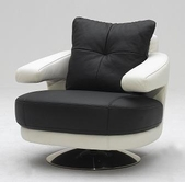 VIG Furniture VGKKA-238 A-238 Modern Full Leather Swivel Chair