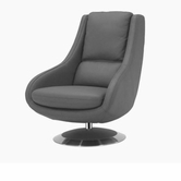 VIG Furniture VGKKA588-GRY A588 - Modern Leather Lounge Chair