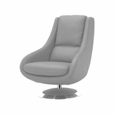 VIG Furniture VGKKA588-GRY2 A588 - Modern Leather Lounge Chair
