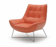 VIG Furniture VGKKA728 Divani Casa A728 - Modern Orange Leather Lounge Chair
