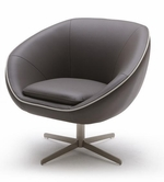 VIG Furniture VGKKA768 Divani Casa A768 - Modern Leather Swivel Lounge Chair