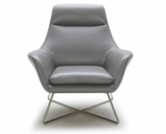 VIG Furniture VGKKA831-GRYA A831 - Modern Leather Lounge Chair
