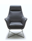VIG Furniture VGKKA831-GRYB A831 - Modern Leather Lounge Chair