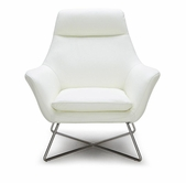 VIG Furniture VGKKA831-WHT A831 - Modern Leather Lounge Chair