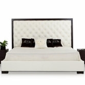 VIG Furniture VGKKB166-BL Ludwig - Tufted Leather Bed