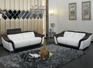 Vig Vgkn9566 Modern Leather Sofa Set-9566