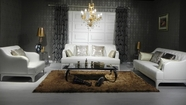 Vig Vgknd6000 Divani Casa D6000-Modern Tufted Leather Sofa Set