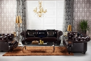 VIG Furniture VGKND6022 Divani Casa D6022 - Transitional Chocolate Italian Leather Sofa Set