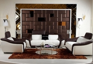 Vig Vgknk8376 K8376-Modern Multi-Toned Leather Sofa Set