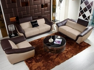 VIG Furniture VGKNK8376-Taupe K8376 - Modern Multi-Toned Leather Sofa Set
