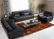 Vig Vgknk8432 K8432-Black Italian Leather Sofa Set