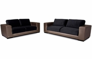 VIG Furniture VGKNK8458 Divani Casa K8458 - Modern Golden Faux Crocodile Leather & Fabric Sofa Set