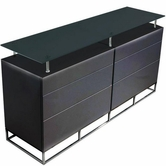 VIG Furniture VGLEK017-BLK K017 - Modern 6 Drawer Black Gloss Buffet