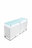 VIG Furniture VGLEK017-WHT K017 - Modern 6 Drawer White Gloss Buffet