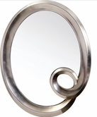 VIG Furniture VGLEPU042 PU042 - Transitional Round Mirror