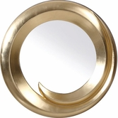VIG Furniture VGLEPU057 PU057 - Transitional Gold Round Mirror