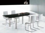 Vig Vglet021-Vgley022 Pacific White-Modern-Extendable-Dining-Table-Y022-Chair Dining Set