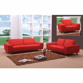 VIG Furniture VGMB0820 Sunset Modern Red Sofa Set