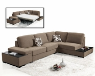 VIG Furniture VGMB1015-TPE Divani Casa Risto - Modern Fabric Sectional Sofa bed