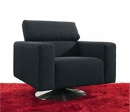 VIG Furniture VGMB1024 Divani Casa MB-1024 - Modern Fabric Swivel Leisure Chair