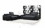 Vig Vgmb1031 Black Italian Design Modern Sofa Set