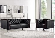 Vig Vgmb1265 Divani Casa Bisby-Modern Tufted Leather Sofa Set