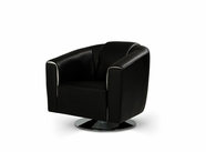 VIG Furniture VGMB1280-BLK Lowell - Modern Black Leather Armchair