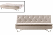 VIG Furniture VGMB1281-beige Darlow - Contemporary Fabric Sofa Bed
