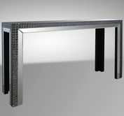 VIG Furniture VGMC-GD-1059 Dayton - Transitional Mirrored Console Table
