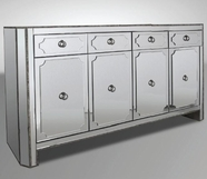 VIG Furniture VGMCGD1018 Dawson - Transitional Mirrored Buffet