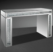 VIG Furniture VGMCGD1115 Glimmer - Transitonal Mirrored Console Table with Artificial Crystals