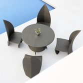 VIG Furniture VGMN-LEAVES-B Leaves - 5 Piece Modern Patio Set