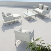 VIG Furniture VGMNAGEAN-LOUNGE Aegean - 5 Piece Patio Lounge Set