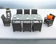 VIG Furniture VGMNLAVITA-DINING Lavita - Table and 8 Chair Patio Dining Set