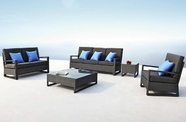 VIG Furniture VGMNLAVITA Lavita - Sofa, Loveseat, Chair, End Table and Coffee Table Patio Set