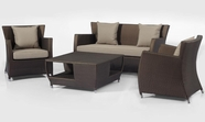 VIG Furniture VGMNMALDIVE Maldive - Modern 4 Piece Patio Sofa Set
