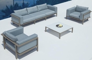 VIG Furniture VGMNMARINA Marina - Sofa, Two Chairs and Coffee Table Patio Set