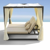 VIG Furniture VGMNREDONDO Redondo - Patio Canopy Day Bed with Dual Adjustable Backrests