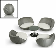 VIG Furniture VGMNRM-7654 Ovum - Modern 5 Piece Egg Shape Patio Set