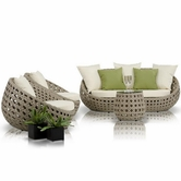 VIG Furniture VGMNRM7189 Akoi - Modern 4 Piece Patio Sofa Set