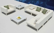 VIG Furniture VGMNVICTORIA Victoria - Sectional, Chair, and 2 Coffee Table Patio Set