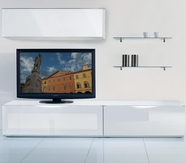 VIG Furniture VGMUMO-USA2-BI Modena - MO-USA2 White Made in Italy TV Entertainment System