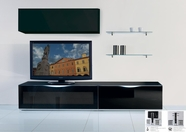 VIG Furniture VGMUMO-USA3-NE Modena - MO-USA3 Modern Black TV Entertainment System Made in Italy