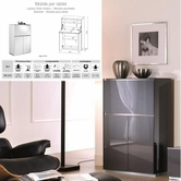 VIG Furniture VGMUVR275-ANM Verona - VR275 Shiny metallic charcoal grey Made in Italy TV Entertainment System