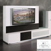 VIG Furniture VGMUVR3-BIO Verona - VR3 White Made in Italy TV Entertainment System